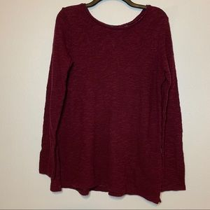 American Eagle Burgundy Sweater with Lace